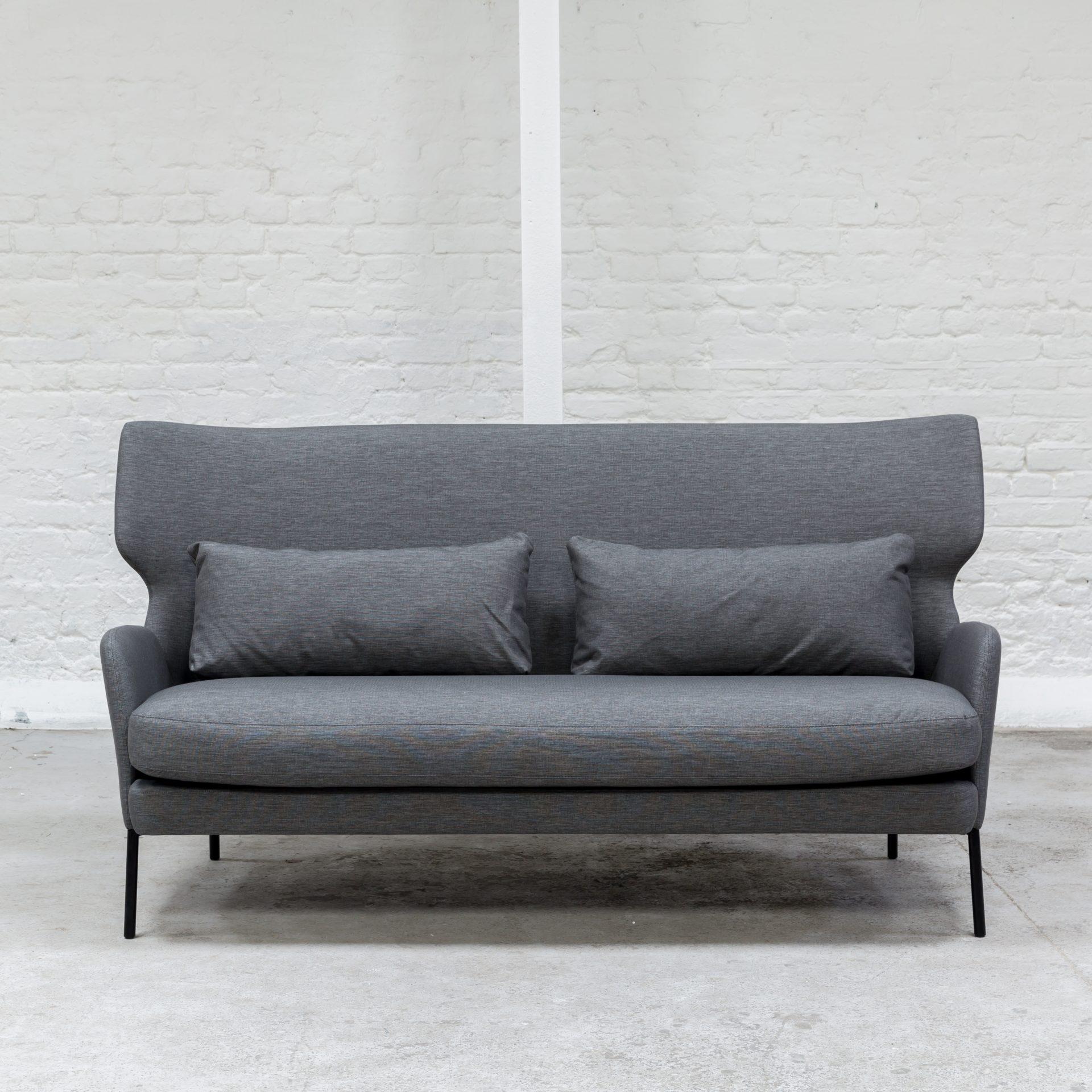 Wingback Sofa Dark Grey Juno Hire