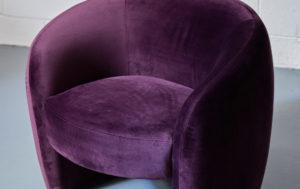 purple velvet armchair for hire